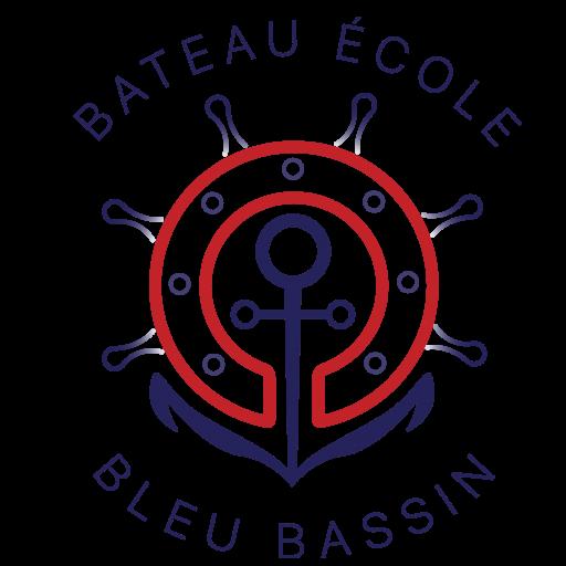 Bateau école bleu bassin